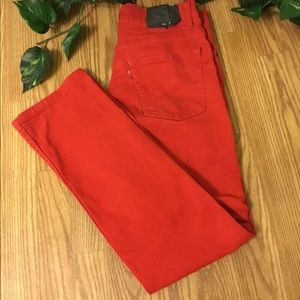 Levi's Red 511 Slim Size 16 Waist 28